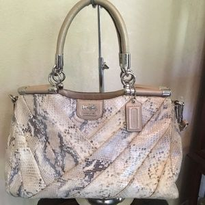 Coach Madison Diagonal Exotic Carrie Purse